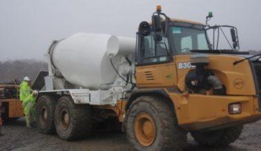 All Terrain Concrete Mixer Delivery Truck