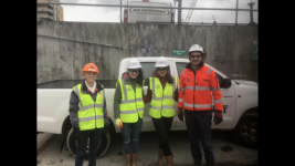 Work Experience Students At Spencer Dock Dublin Niamh Carr And Jenna Mcgibbon Dec 182